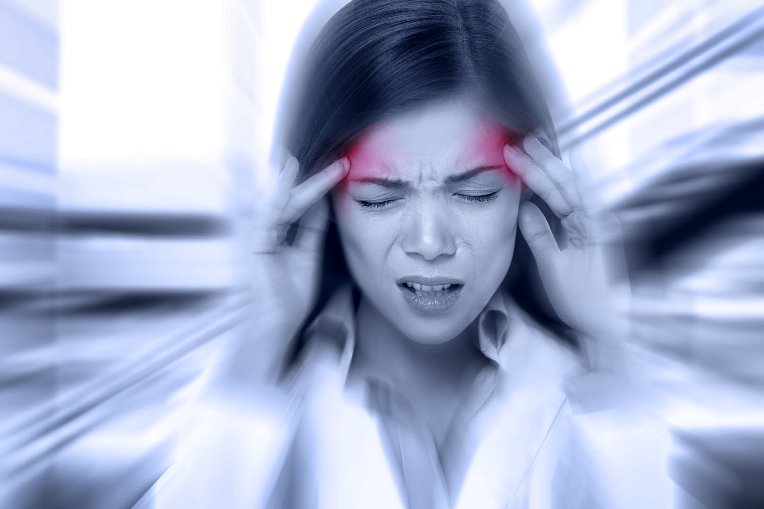 Woman with Migraine Headache